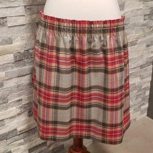 J Crew Factory Plaid Wool Sidewalk Skirt Womens 16